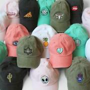 Baseball Hat With Embroidered Patch - Your Choice Of Patch And Cap Color Dad Hat