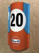 Gulf Racing Gasoline Racing Metal Sign Steve Mc Queen Curved Sign