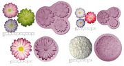 Daisy Flowers Silicone Rubber Sugar Fimo Resin Clay Soap Crayon Mould Mold