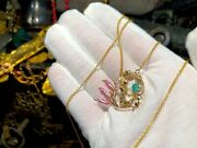 1622 Atocha Emerald And Gold Mermaid Pirate Gold Coins Shipwreck Jewelry Necklace