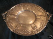 Antique Sterling Silver Round Footed Cake Platter