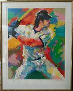 Mike Piazza Serigraph Signed Leroy Neiman And Mike Piazza Numbered 54/425
