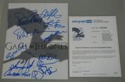 Game Of Thrones X 14 Cast Signed 11and039x14and039 Photo + Acoa Buy 100 Genuine