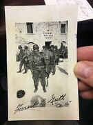 Band Of Brothers Forrest Guth Signed German Helmet Signed Photo