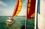 Kayak And Canoe Batwing Sail Rig Balogh Sail Designs W/ Outrigger Stabilizers