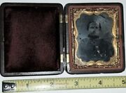 Tintype Civil War Soldier Ambro In 9th Plate