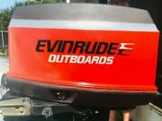 2 Pack Evinrude Outboard Black And Grey Decals Stickers Graphics.