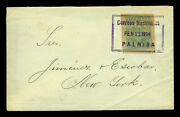 Colombia 1904 Civil War And Inflation Period Cover W/ 5p Sc273 From Palmira To Ny