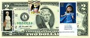 2 Dollars 2009 Stamp Cancel American Dolls Martha Chase Lucky Money Val 150