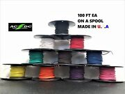 1000and039 Automotive Wire 20 Awg High Temp Gxl Stranded Wire 10 Colors 100 Ft Ea