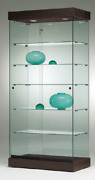 All Glass Tower Jewellery Glass Display Showcases. Cabinet 90w X 46d X 182h Cm