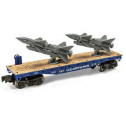 Menards O Gauge Air Force Flatcar With Rockets Us Military Usa Mth Lionel