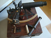 Very Rare Soviet Russian Navy Marine Bronze Sextant N.948 Made In 1935two Tube