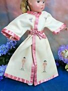 Antique Doll Clothes Kimono Robe Jacket For German Bisque Petite Point Fit14-16