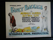 1929 Fancy Baggage - Myrna Loy - Rare Title Lobby Card In Exc Con - Silent Lost