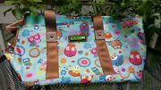 Lily Bloom Pet Carrier Tote Sm/med Up To 15 Lbs Owl Blue Flower Nwt