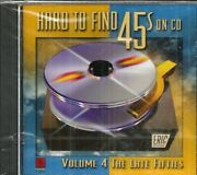 Hard To Find 45s On Cd - Vol 4 The Late Fifties - Cd - Brand New
