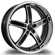 Set Of Four Marquee Wheels M5330a 22x9 5x120 +15 Silver Polish/stainless Lip