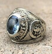 Antique 10k White Gold Jostens Lapd Los Angeles Police Department Class Ring