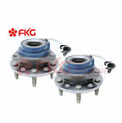 2 Front Wheel Hubs And Bearing Assembly Set Pair For Gm Car Van Chevy Buick 513179