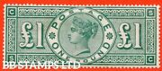 Sg. 212. K17. Andpound1.00 Green Sc . A Fine Mounted Mint Example Of This Po B43187