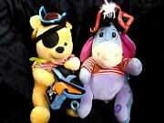 Eeyore With Hat And Dagger And Pooh Bear Pirate 13 Large Collectible Plush Toys