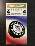 1994 World Champs Ny Rangers Stanley Cup Finals Ticket Stub Clincher 6/14/94