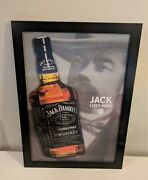 Framed Hd 3d Iconic Print 3 Dimensional Picture Bottle Of Jack Daniels Whiskey 7