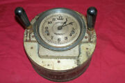 Antique Calculagraph Machine Time Clock Card Recorder Old Factory Punch Vintage