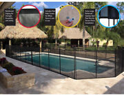 In Ground Pool Safety Fence Panel Metal Security Fencing 4ft H X 12ft L Aluminum