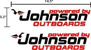 Johnson Outboard Boat Motor Decals Stickers Graphics. 2pk