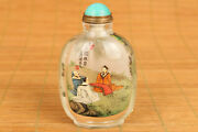 Big Unique Chinese Natural Crystal Talent Scout Snuff Bottle