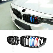 Black 3color Double Pole Sport Front Kidney Grille For Bmw 3 Series Gt F34 14-19