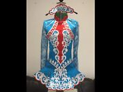 Irish Dancing Dress - Approx Age 10-12yrs Brand New Made With Crystals