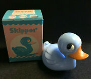 Old Vtg Collectible Nos Knickerbocker Skipper No.350 Blue Baby Rattle In Box
