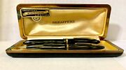 Vintage Sheaffer's Fountain Pen And Mechanical Pencil With Vintage Case And Price