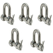 Bolt Pin D Ring Rig Boating 5 Pc 3/8 Marine Stainless Steel 316 Chain Shackle