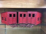Buddy L 80 Three Stall Roundhouse - Rare Red Color - Made From 1929 To 1932