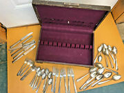 Bs4 Lot Lady Betty Spoons Forks Knives Silverware With Wooden Box