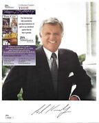 Signed Ted Kennedy Color 8x10 Photograph John F. Kennedy Autographed Jsa Coa