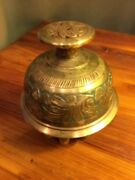 Bell With The Knob For Attachment On Robe Door Handle Engraved Vintage Antique