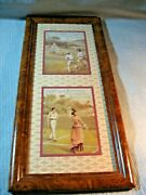 Huntley And Palmerand039s Multiple Sport Photos -wood Frame Mica 22 1/2 X 10 1/2.