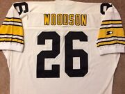 Vtg Authentic 90and039s Rod Woodson Steelers Nfl Starter Durene Jersey 52 Sewn Rare
