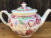 Very Rare Winchester Pink Rope Edge Tea Pot W/ Lid By Johnson Bros. England