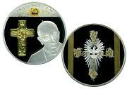 Pope Francis Cross Inlay Colossal Commemorative Coin Proof Value 139,95