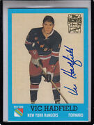2001-02 Topps Opc Archives Vic Hadfield N.y.rangers/g.a.g.line Autograph Auto