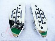 Chrome Footpegs Floorboards Footboards Boards Rear Harley Touring Softail