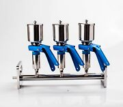 3-branch Vacuum Filtration Manifolds Apparatus 316l Stainless Steel Funnel Nd