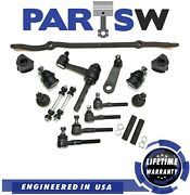 17 Pc Suspension Kit For Ford Lincoln Tie Rods Center Link Idler And Pitman Arm