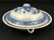 Chinese Blue And White Porcelain Warming/hot Water Plate/w Lid Qianlong 1736andmdash1796